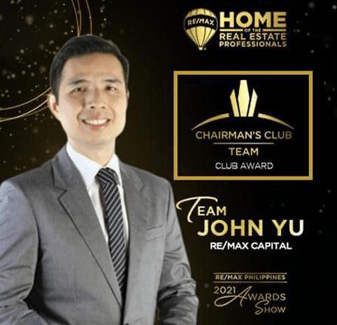 2020 Chairmans Club Team John Yu REMAX Capital Property Source PH