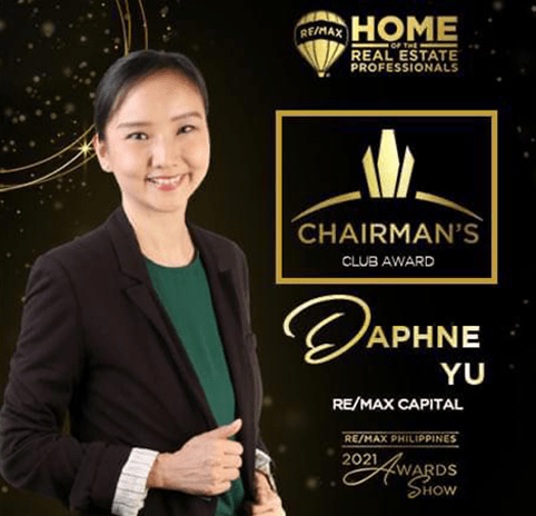 2020 Chairmans Club Individual Daphne Yu REMAX Capital Property Source PH